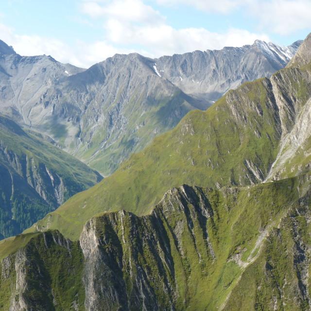 """Mountain ridges"" stock image"
