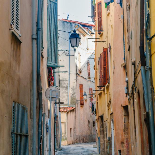 """Street in Provencal Village"" stock image"