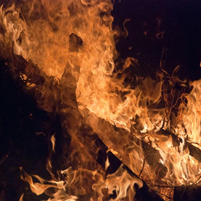 """""""Campfire closeup"""" stock image"""
