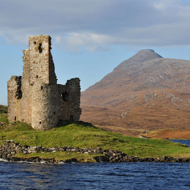 """""""Castle by the Loch"""" stock image"""