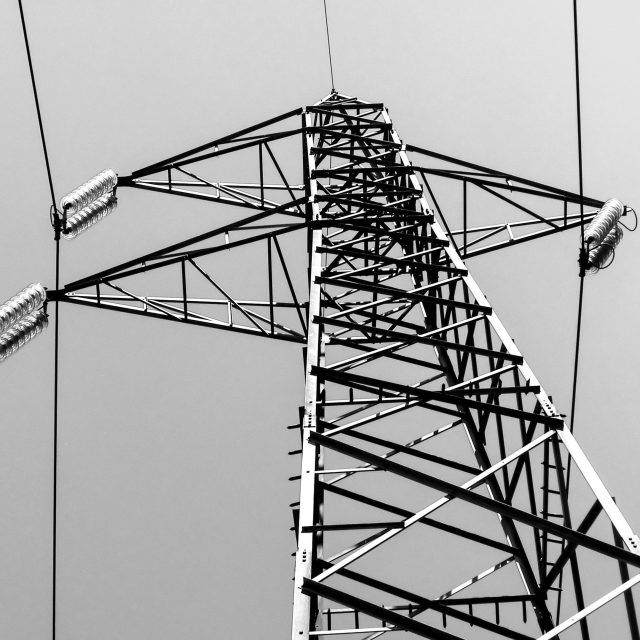 """Trasmission line tower"" stock image"