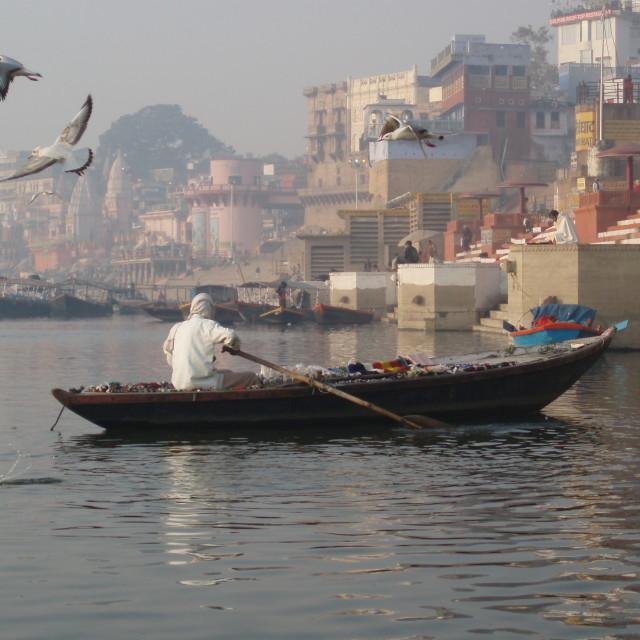 """Varanasi boat"" stock image"
