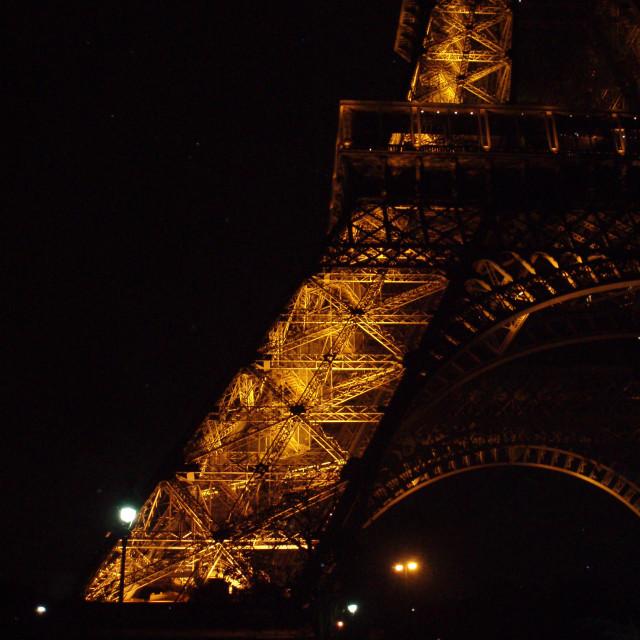 """Eiffel by night"" stock image"