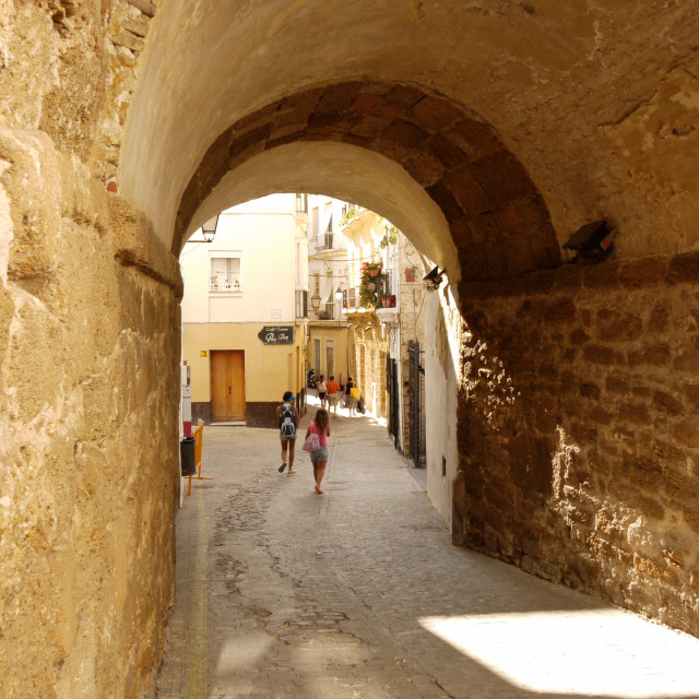 """Archway, Cadiz"" stock image"