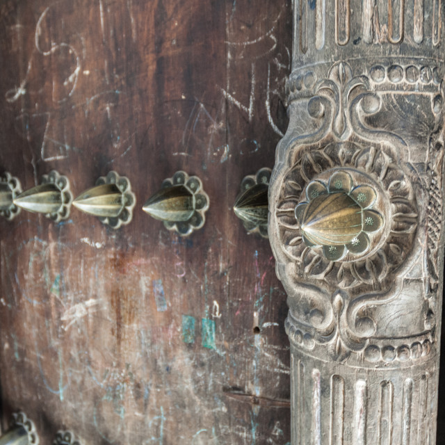 """Zanzibar door decoration"" stock image"