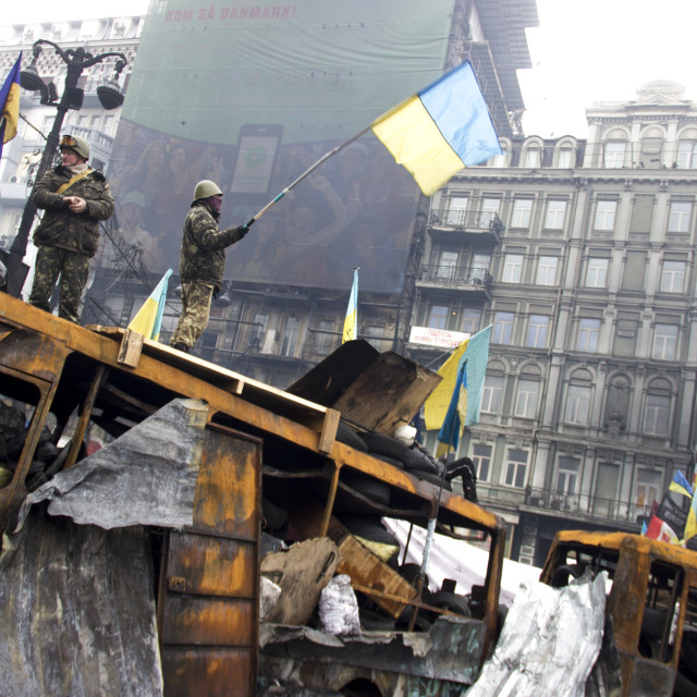 """Ukrainian demonstrators"" stock image"