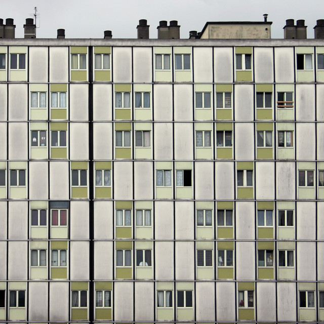 """Apartment block in Paris"" stock image"