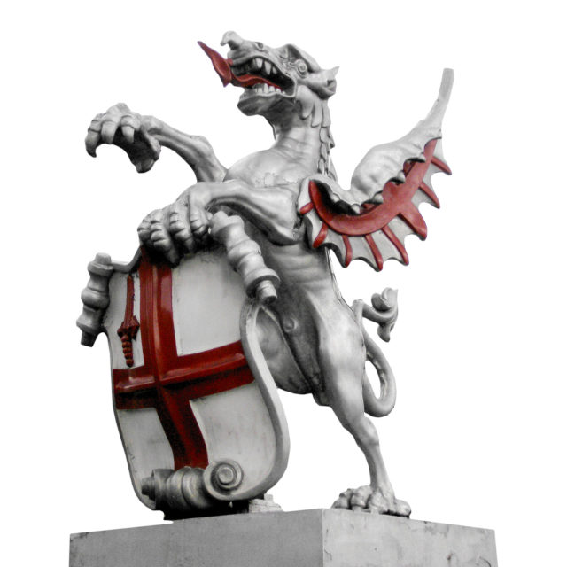 """""""St George and the dragon"""" stock image"""