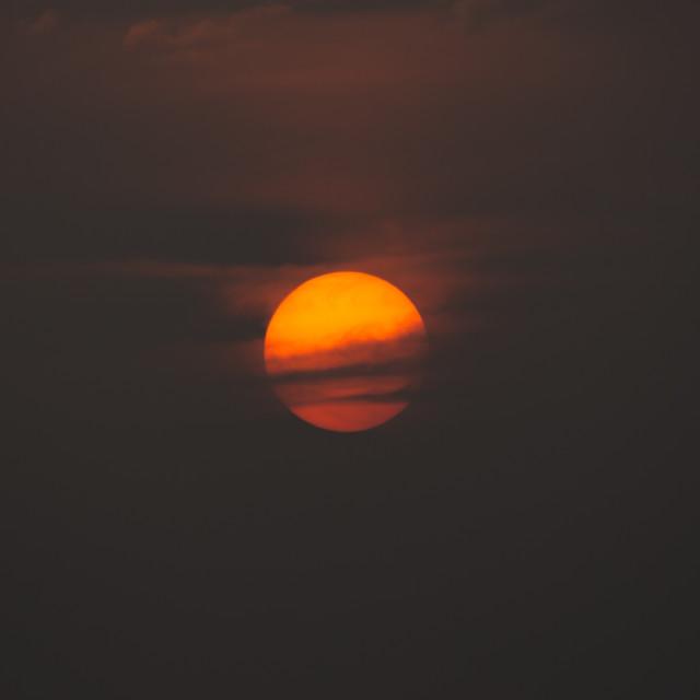 """""""Midnight Sun"""" stock image"""