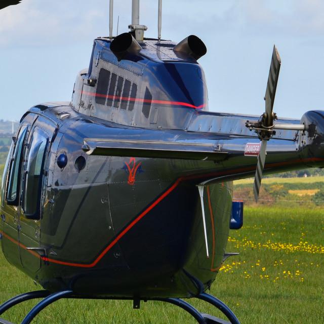 """""""Bell 206 Jet Ranger"""" stock image"""