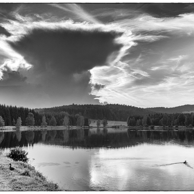 """Evening lake"" stock image"