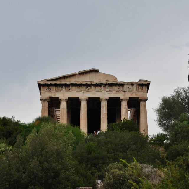 """temple of hephaestus"" stock image"