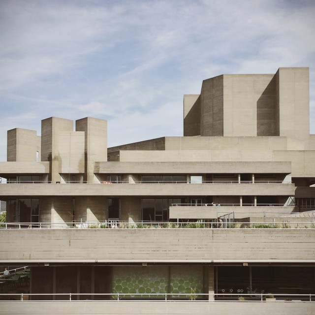 """National Theatre, London"" stock image"