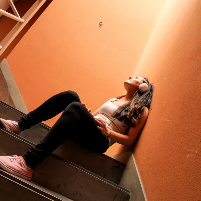 """""""Melancholic Stairway"""" stock image"""