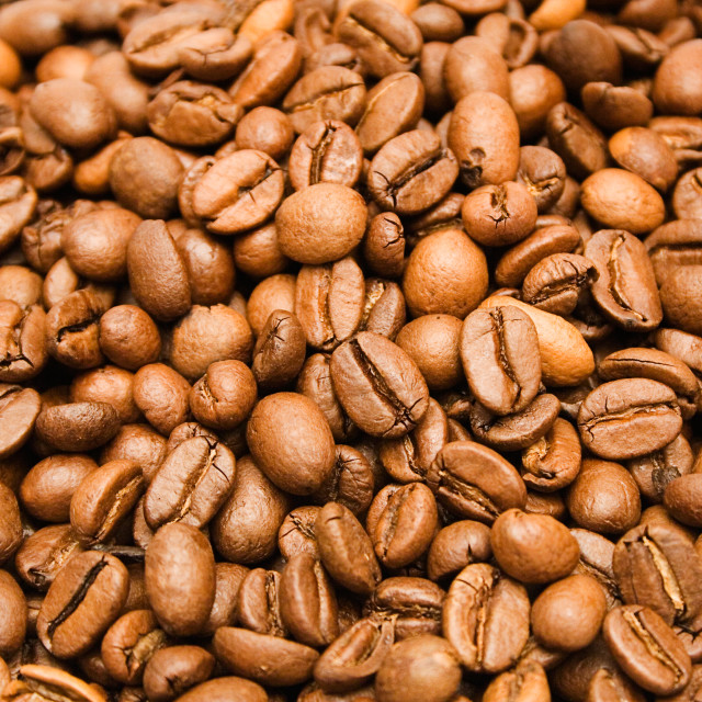"""Coffee Beans Background"" stock image"