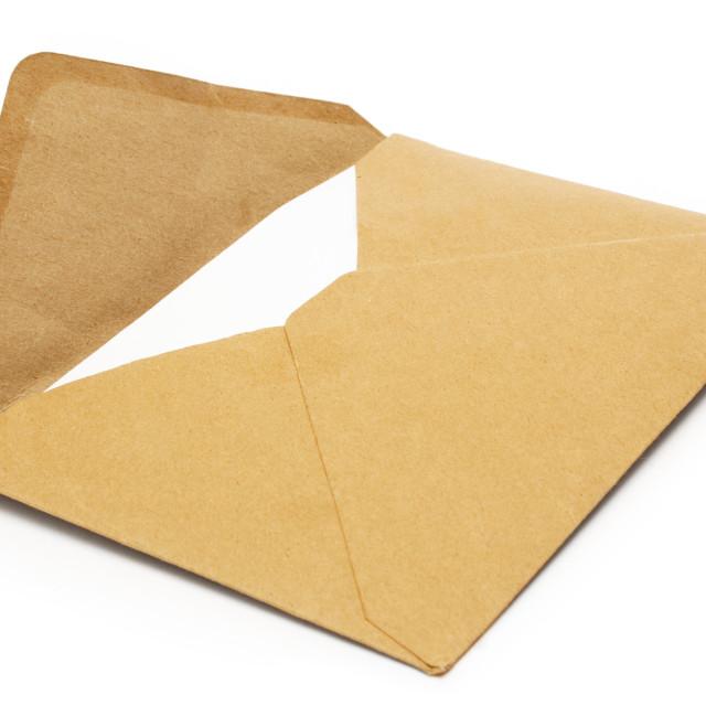 """Brown Vintage Envelope"" stock image"