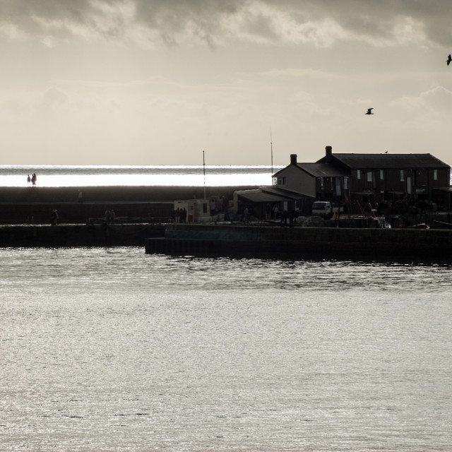 """Winter light, Lyme Regis"" stock image"