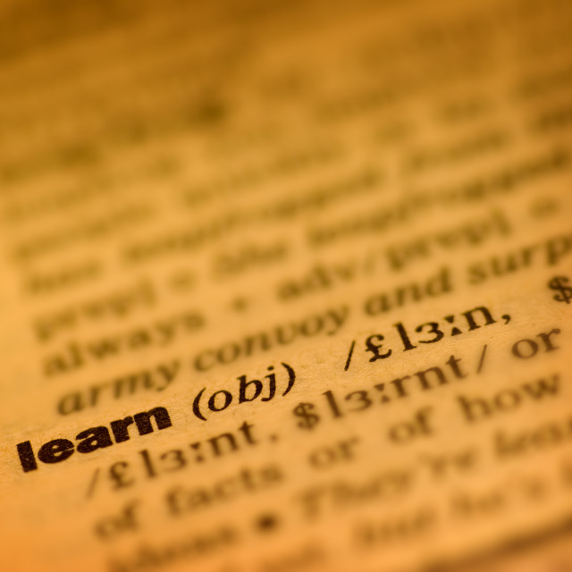 """""""Learning"""" stock image"""