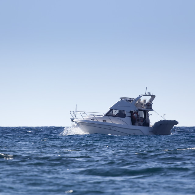 """Motor boat"" stock image"