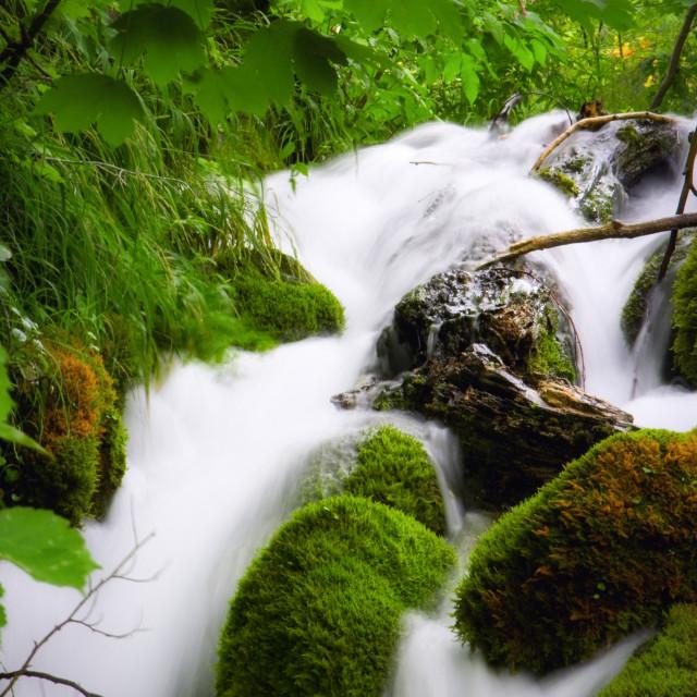 """Beautiful waterfalls at Plitvice Lakes National Park"" stock image"
