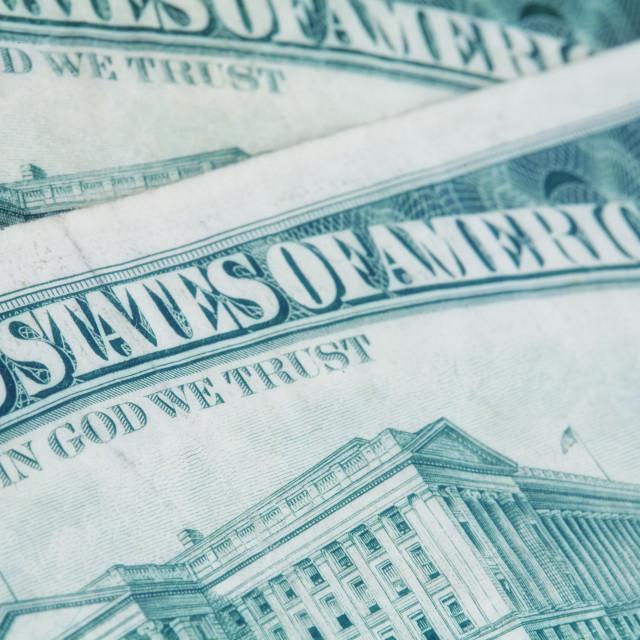 """""""US dollars background"""" stock image"""