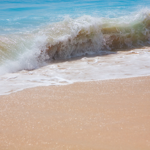 """Beautiful surfing sand beach"" stock image"