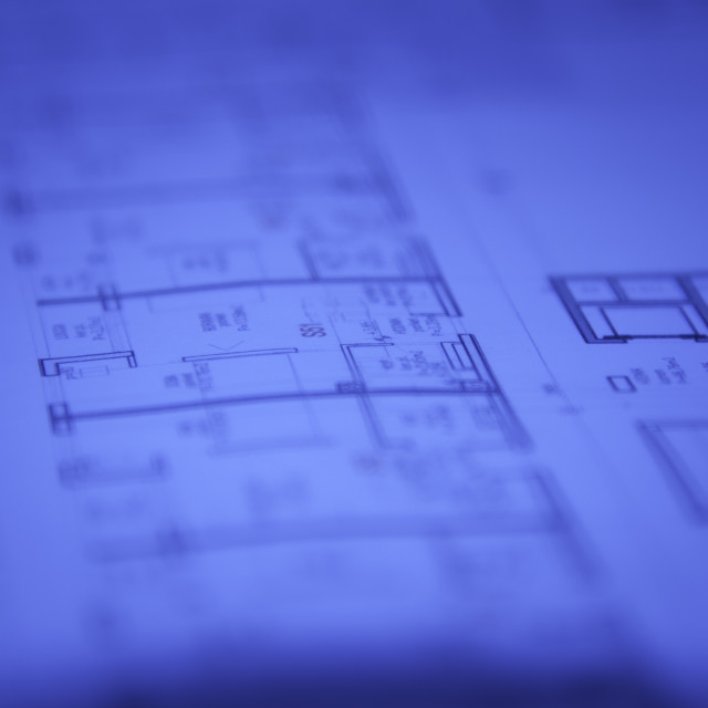 """""""Abstract architectural blueprints"""" stock image"""
