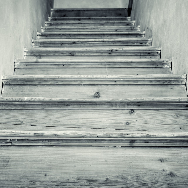 """""""Old stairs to the attic"""" stock image"""