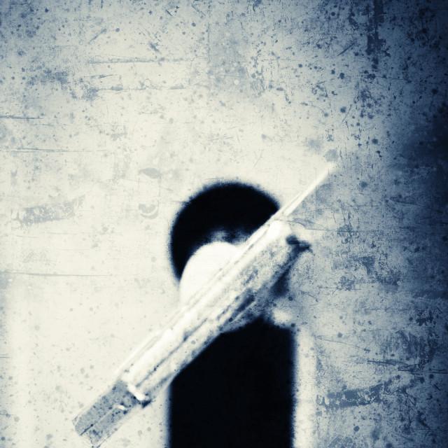 """""""Grunge collage - Keyhole"""" stock image"""
