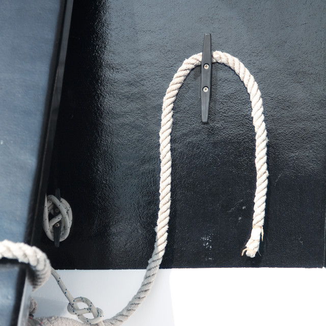 """""""Rope on the passenger boat"""" stock image"""