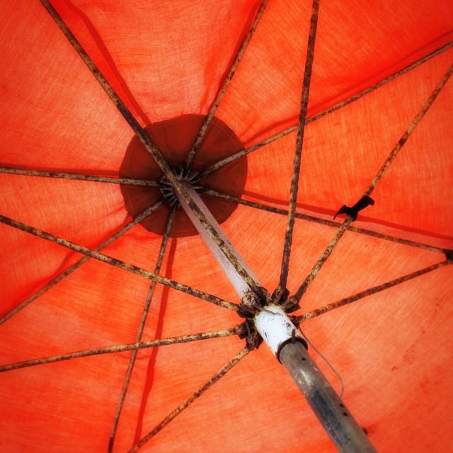 """""""Orange Umbrella"""" stock image"""