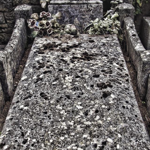 """Stone grave"" stock image"