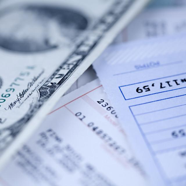 """Paying billsclose up photo"" stock image"