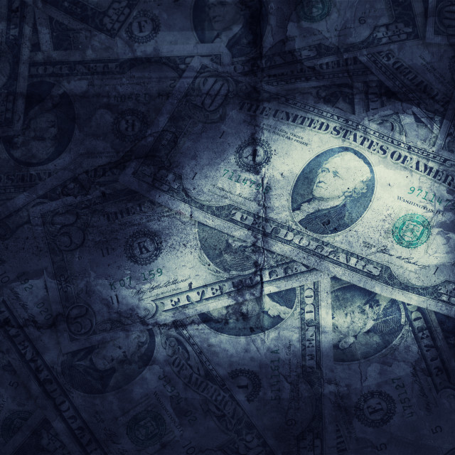 """Grunge textured US dollars background"" stock image"
