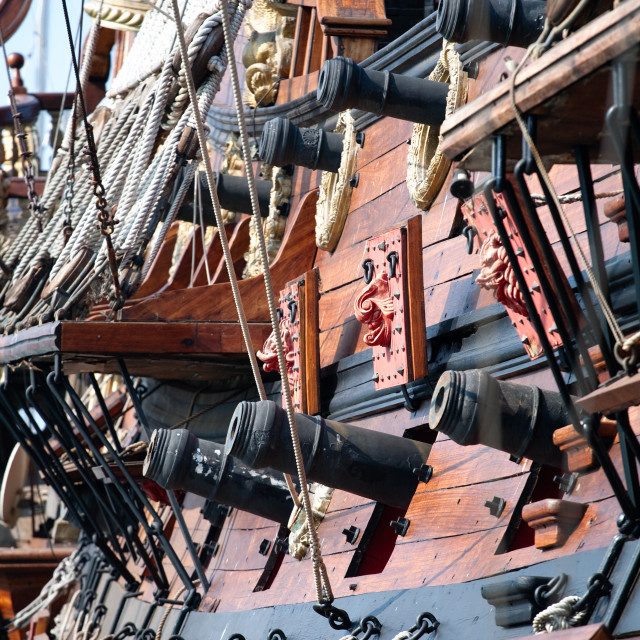"""""""Old pirate ship"""" stock image"""