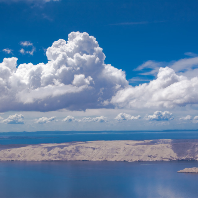 """""""Mediterranean islands as seen from the air"""" stock image"""
