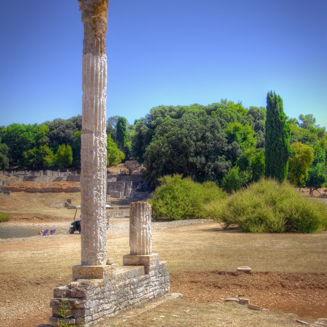 """Ancient Roman ruins"" stock image"