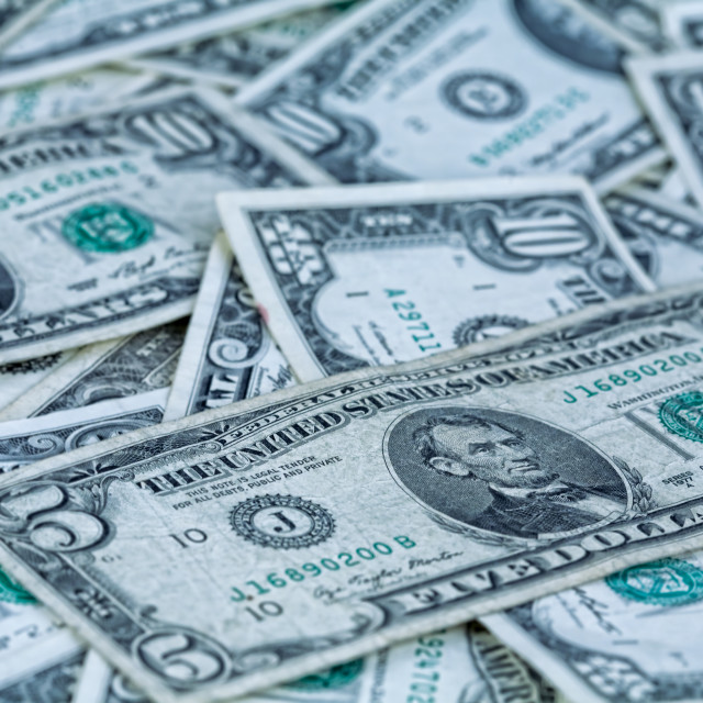 """US dollars background"" stock image"