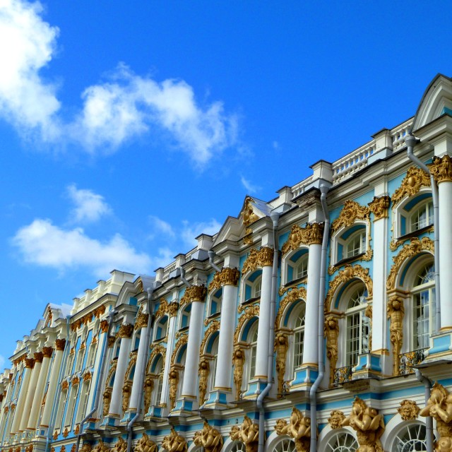 """Catherine Palace, St Petersburg"" stock image"