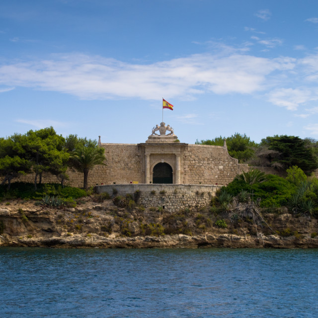 """One of the entrances to Lazareto Quarantine Island on Mahon inle"" stock image"
