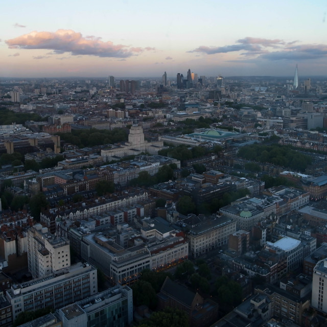 """London from the BT Tower"" stock image"
