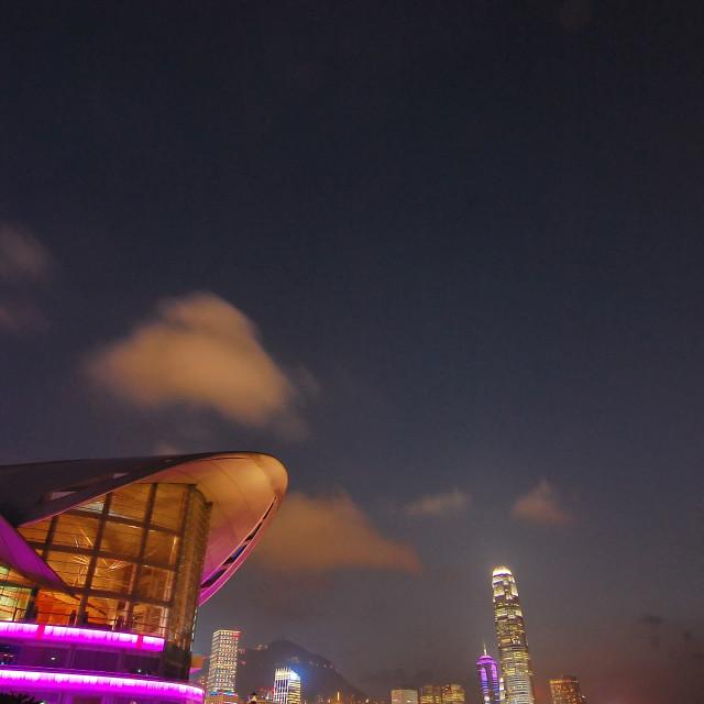 """Hong Kong Convention & Exhibition Centre"" stock image"