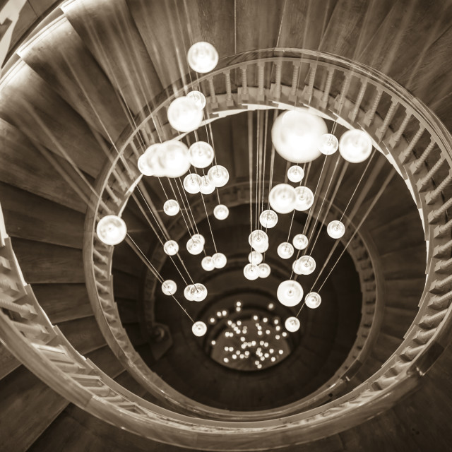 """Spiral Staircase"" stock image"