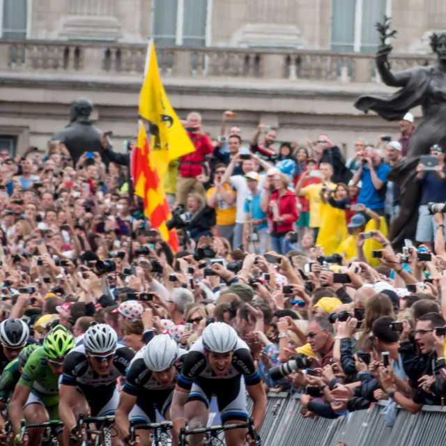 """Tour de France, London"" stock image"