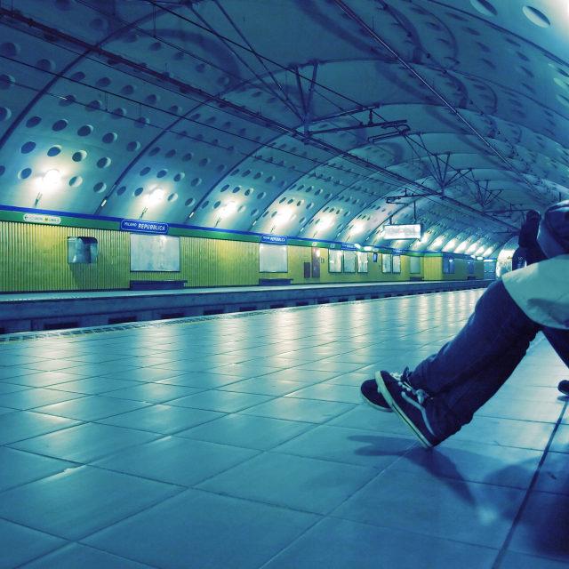 """""""Tube station"""" stock image"""