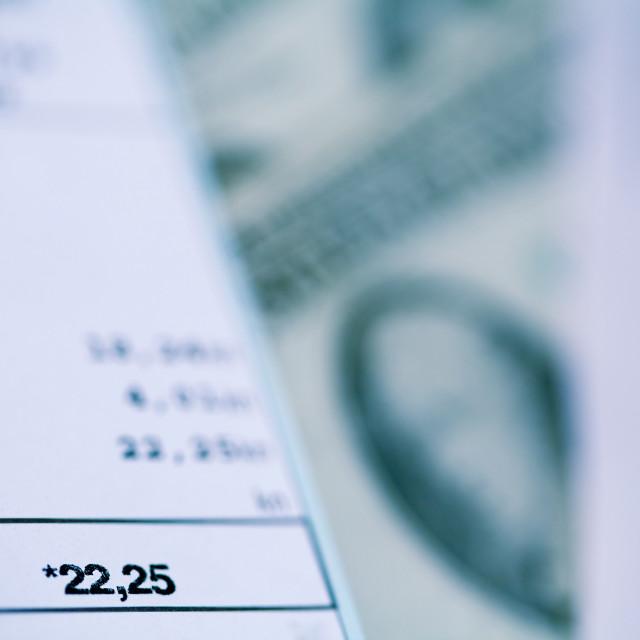 """""""Paying bills"""" stock image"""