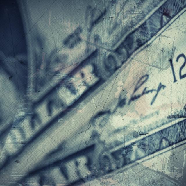 """Grunge textured US Dollar background"" stock image"