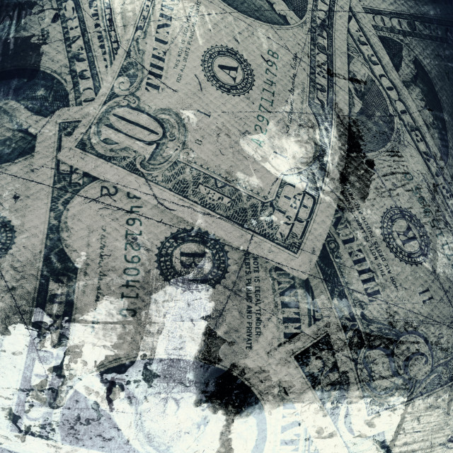 """Grunge textured US Dollar background"" stock image"