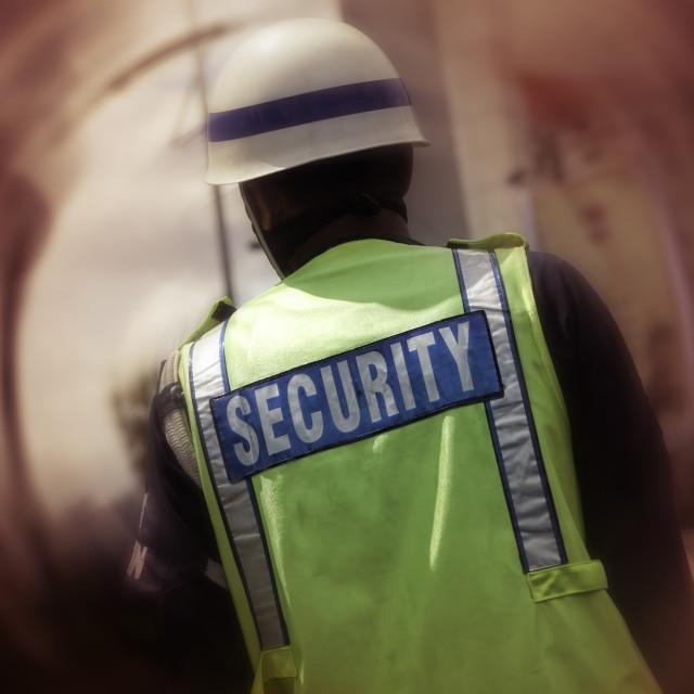 """Security on urban street"" stock image"