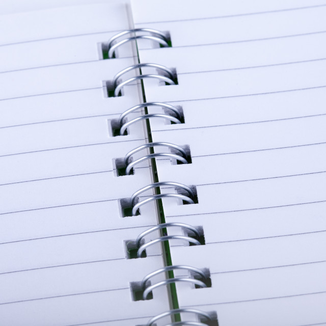 """Spiral notebook"" stock image"